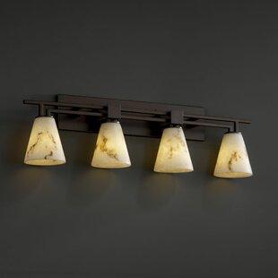 Brayden Studio Jacobo 4-Light Bath Vanity Light in Short Tapered Cylinder Shape