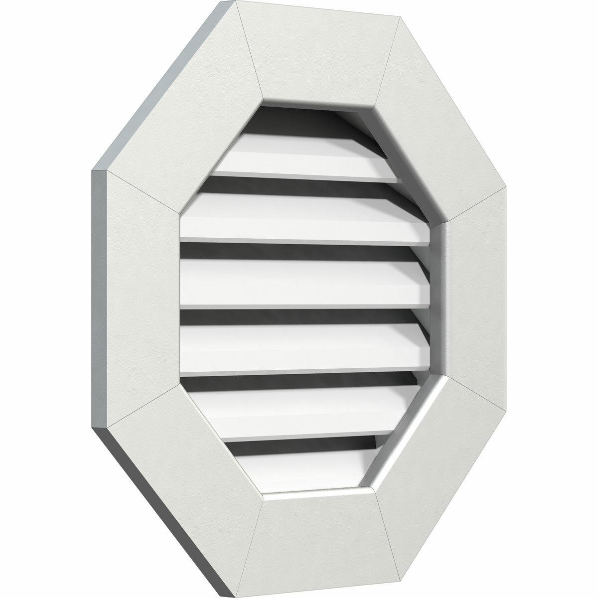 Ekena Millwork Pvc Octagonal Gable Vent With Flat Trim Frame In White Wayfair