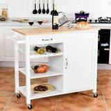 Gresham Solid Wood Kitchen Cart by August Grove®