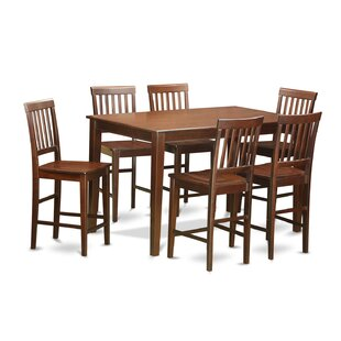 7 Piece Counter Height Dining Set by Wood..