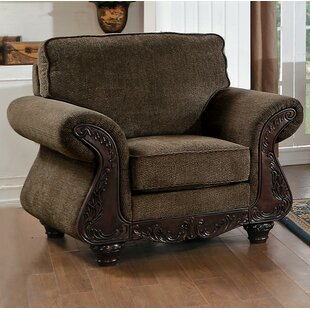 Astoria Grand Cristian Traditional Style Wood/Fabric Armchair