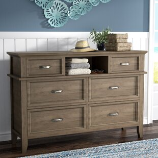 Price comparison Cartwright 6 Drawer Dresser with Mirror by Rosecliff Heights