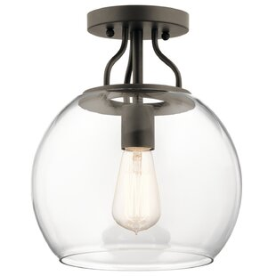 Hoover 1-Light Semi Flush Mount by Latitude Run