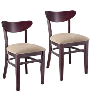 Buy clear Fayette Oval Back Solid Wood Dining Chair (Set of 2) by Red Barrel Studio Reviews (2019) & Buyer's Guide