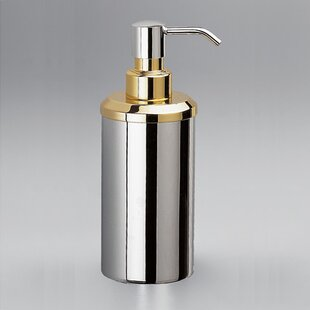 Windisch by Nameeks Contemporary Round Countertop Brass Soap Dispenser