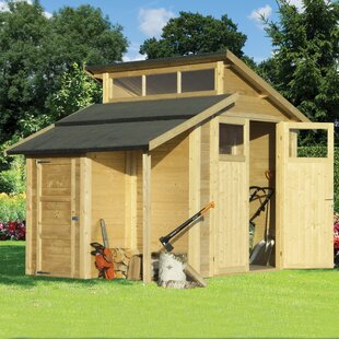 10 Ft. W X 7 Ft. D Tongue & Groove Apex Wooden Shed By WFX Utility