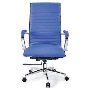 Orren Ellis Covertt High Back Swivel Leather Executive Chair