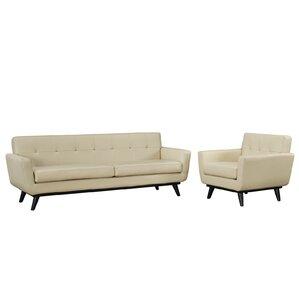Saginaw Leather 2 Piece Living Room Set by Corrigan Studio