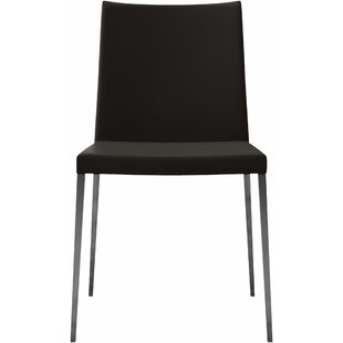Best Choices Lau Genuine Leather Upholstered Dining Chair (Set of 2) by Orren Ellis