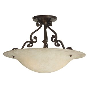 Whipkey 2-Light Semi Flush Mount by Fleur De Lis Living