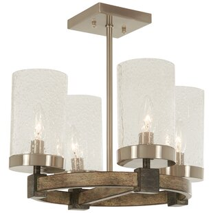 Union Rustic Lisk 4-Light Semi Flush Mount