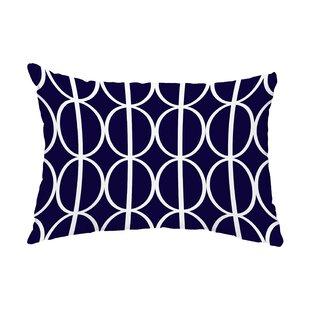 Mulfo Ovals Go Round Indoor/Outdoor Lumbar Pillow