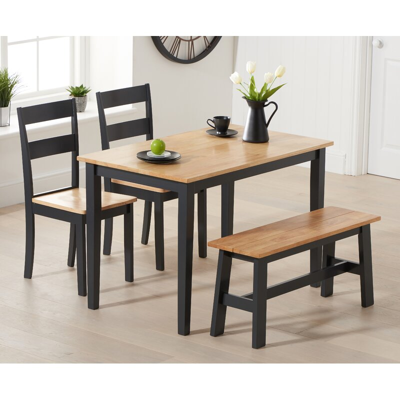Barstow Dining Set With 2 Chairs And 1 Bench