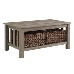 Exclusive Denning Storage Coffee Table Andover Mills