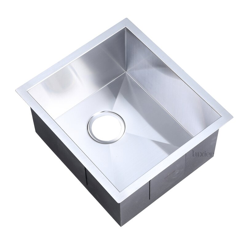 Luxier Luxury Handmade 18 Quot L X 16 Quot W Undermount Bar Sink
