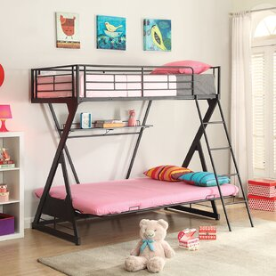 Jerold Futon Bunk Bed with Bookshelf