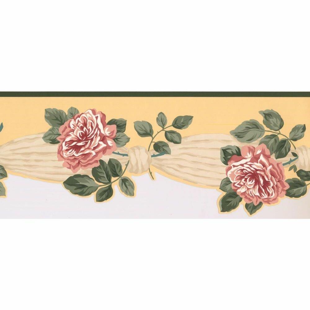 Astoria Grand Cosey Floral 15 L X 8 W Wallpaper Border Wayfair
