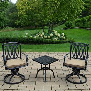 Alcott Hill Lostant 3 Piece Conversation Set with Cushions