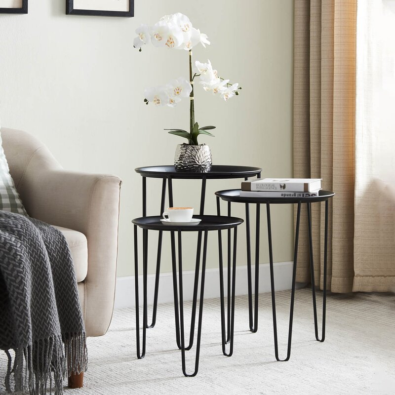 17 Stories Bysshe 3 Piece Plant Stand Set Wayfair