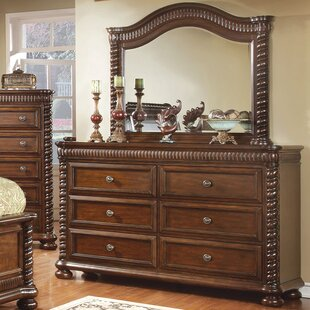 Bautini 6 Drawer Double Dresser with Mirror