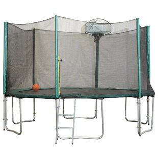 Exacme 12' Round Trampoline with Safety Enclosure (Wayfair Exclusive)