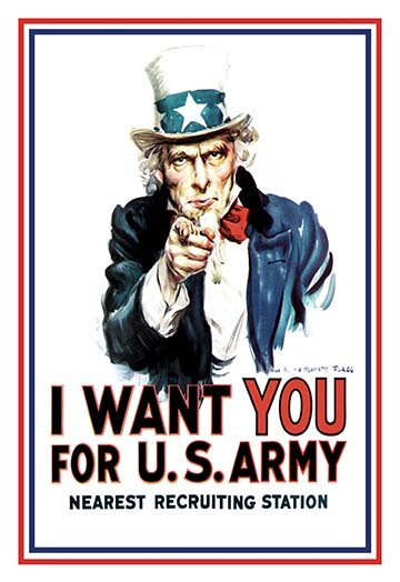 Buyenlarge I Want You For The U S Army By James M Flagg Vintage Advertisement Wayfair