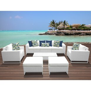 Miami 8 Piece Sofa Seating Group with Cushions By TK Classics