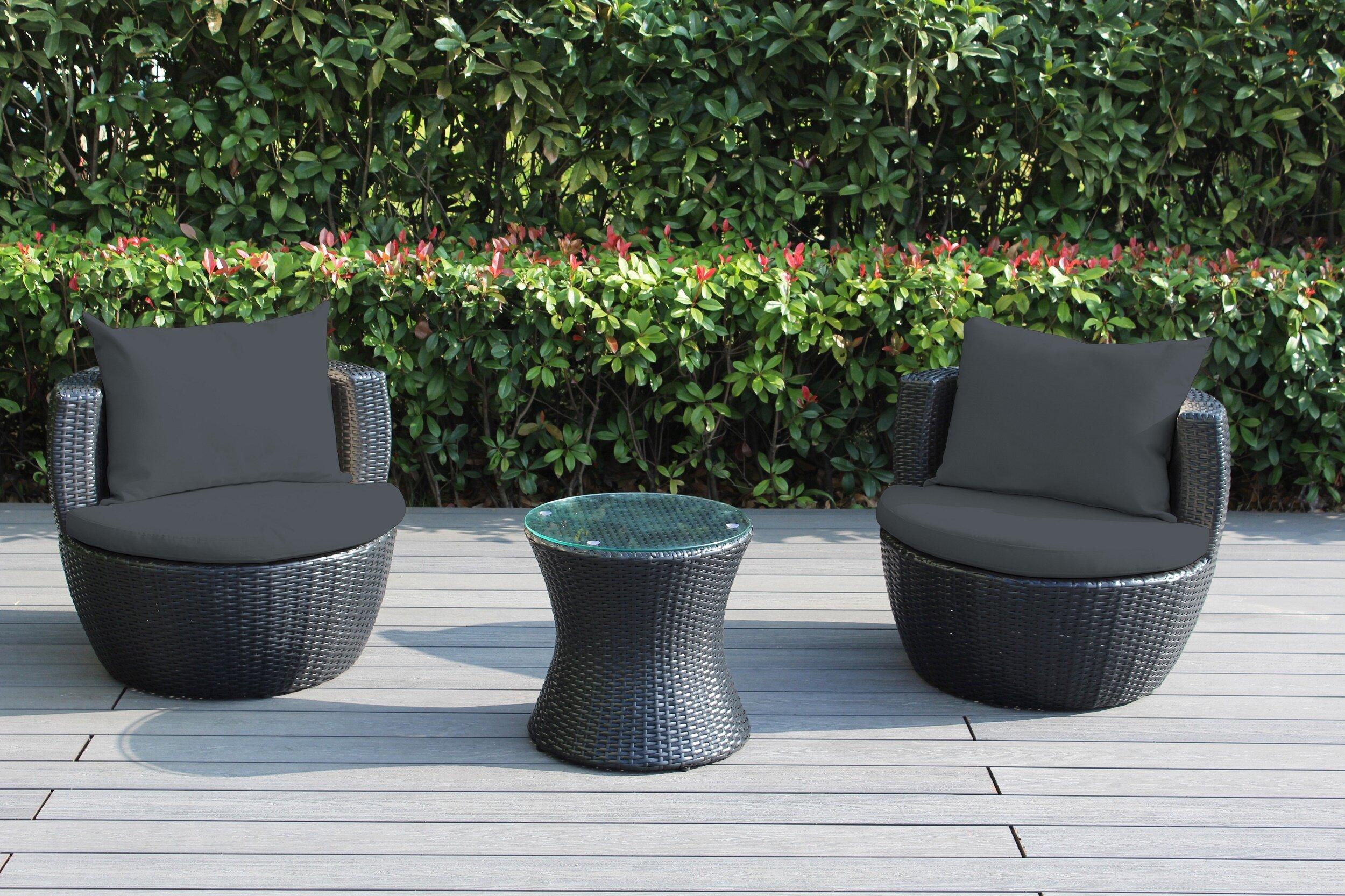 Ohana Patio Furniture Reviews.Ohana 3 Piece Rattan Set With Cushions