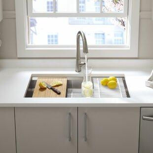 prolific 33 l x 17 34 w x 11 undermount single bowl kitchen sink with accessories - Kitchen Sink Accessories