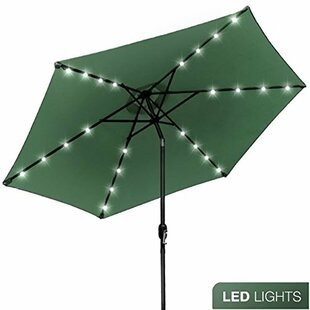 Darby Home Co Rahate Solar LED Outdoor 10' Market Umbrella
