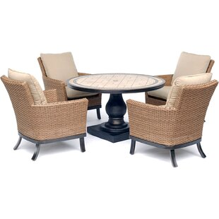 Carlee 5 Piece Dining Set with Cushions