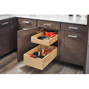 Wood Pilaster System Pull Out Drawer