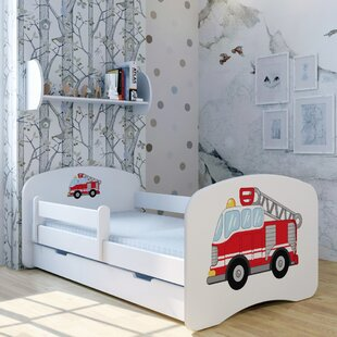Fire Engine Bed With Mattress And Drawer By Zoomie Kids