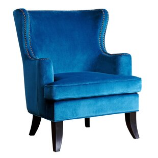 Best Reviews Burnard Fabric  Wingback Chair by Willa Arlo Interiors