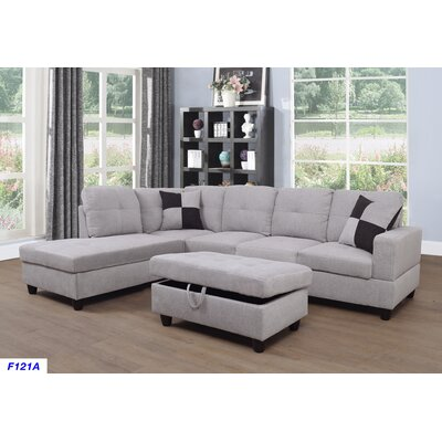 Strange Russ Sectional With Ottoman Andover Mills Upholstery Light Alphanode Cool Chair Designs And Ideas Alphanodeonline