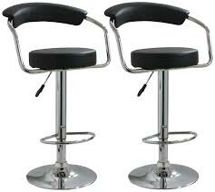 Hutter Adjustable Height Swivel Bar Stool (Set of 2) Orren Ellis