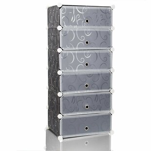 Lifewit DIY 6-Cube 15-Pair Shoe Storage Cabinet