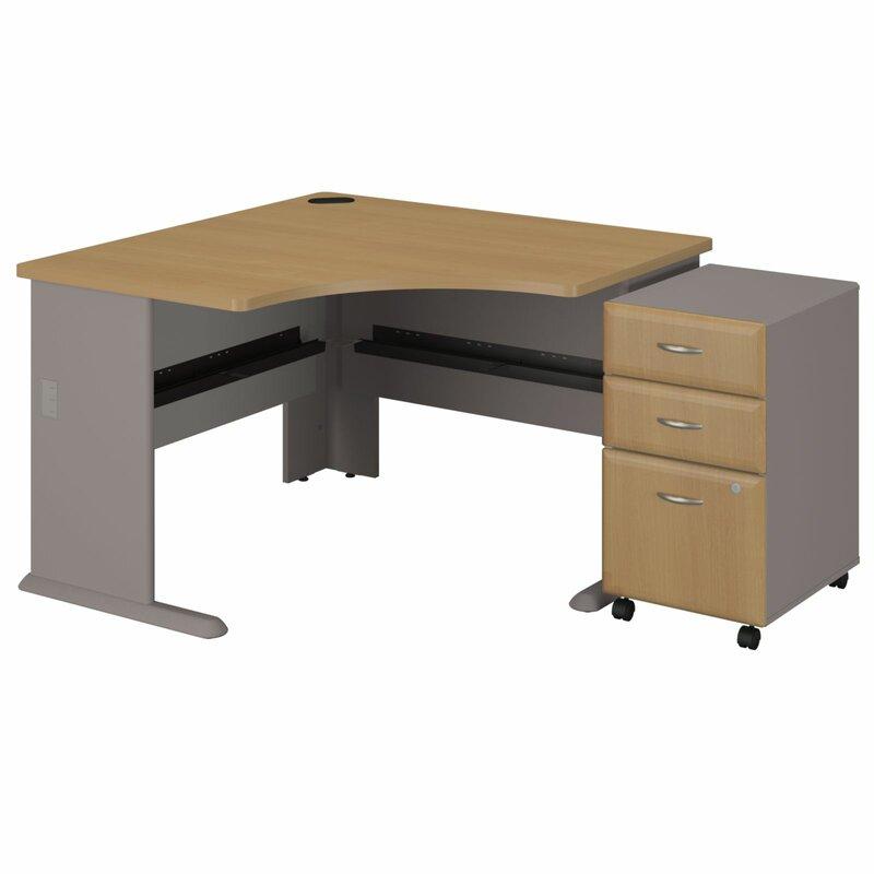 Series A 3 Drawer File Corner Executive Desk