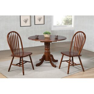 Kenya 3 Piece Drop Leaf Solid Wood Dining Set
