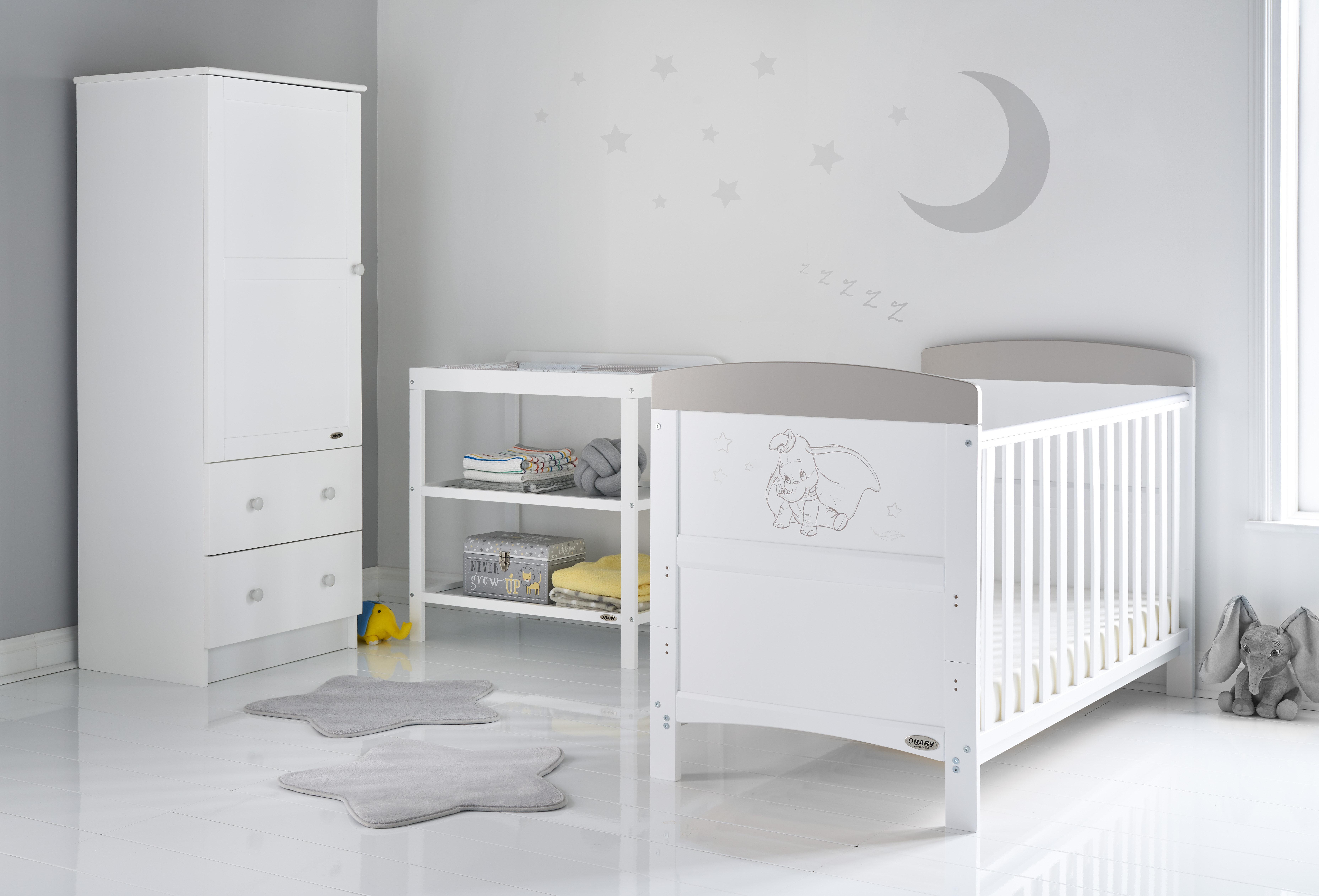 Dumbo Cot Bed 3 Piece Nursery Furniture Set