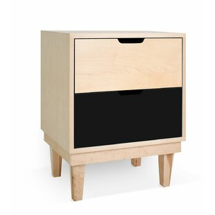 Kabano 2 Drawer Nightstand