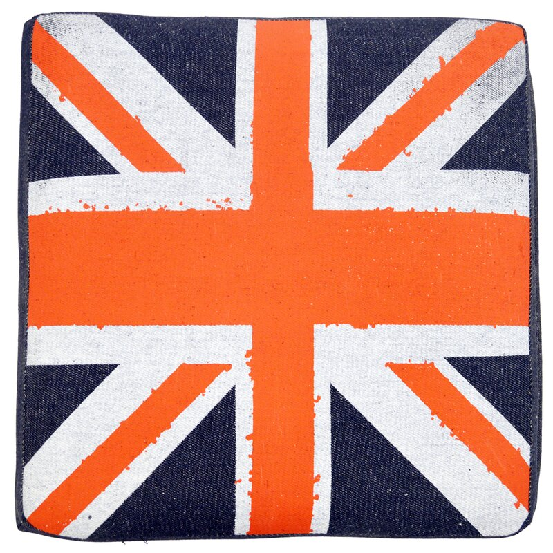 Beautiful House Additions Union Jack Flag Storage Ottoman | Wayfair.co.uk VR74