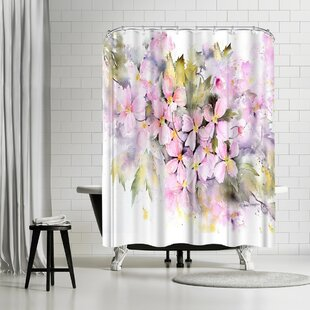 Rachel McNaughton Clematis Montana Shower Curtain by East Urban Home