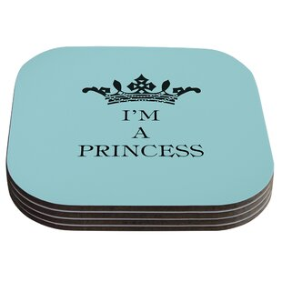 Im a Princess by Louise Machado Coaster (Set of 4) By KESS InHouse