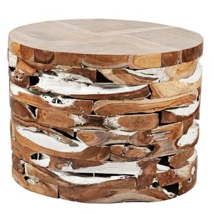 Teak Block End Table by Ibolili