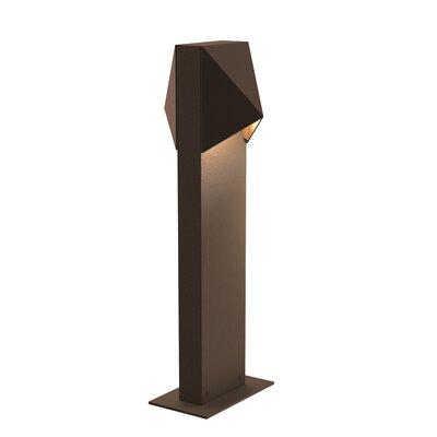 Brayden Studio Annie Compact 12-Light LED Bollard Light Finish: Bronze, Size: 28 H x 3.5 W x 5.25 D