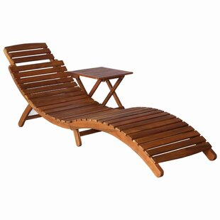 Bader Sun Lounger With Table By Sol 72 Outdoor