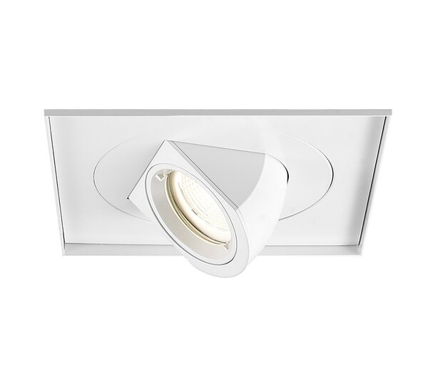 """Set Of 12-6/"""" Black With White Ring Recessed Trims"""