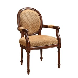 Fabric Armchair in Warm Brown by Coast to Coast Imports LLC