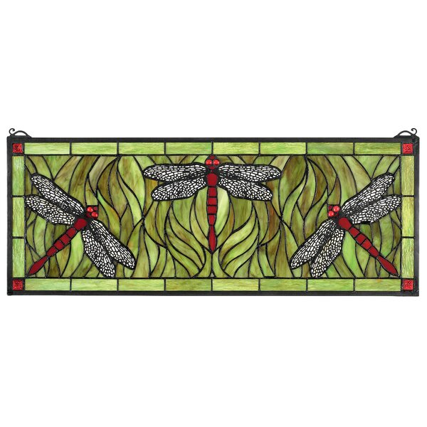 Design Toscano Dragonfly Tiffany Style Stained Glass Window Reviews Wayfair Ca